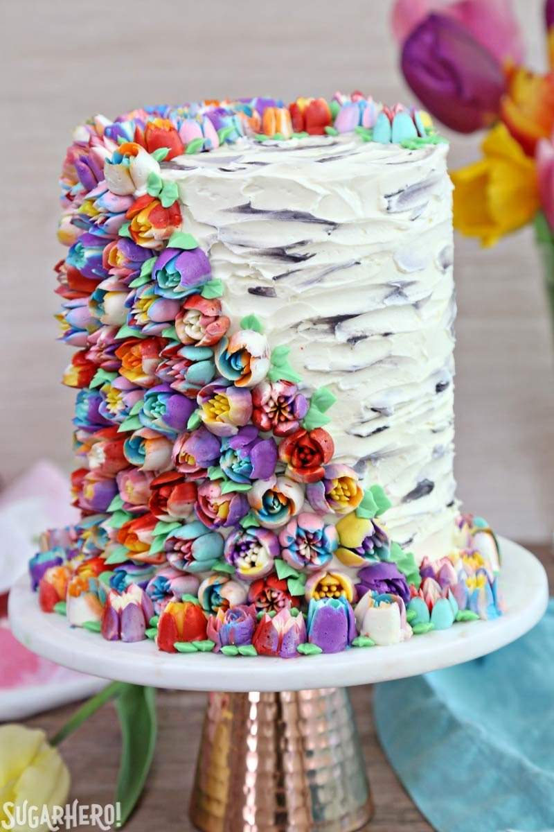 Spring in bloom layer cake spring in bloom layer cake an extra tall cake covered in gorgeous buttercream flowers izmirmasajfo