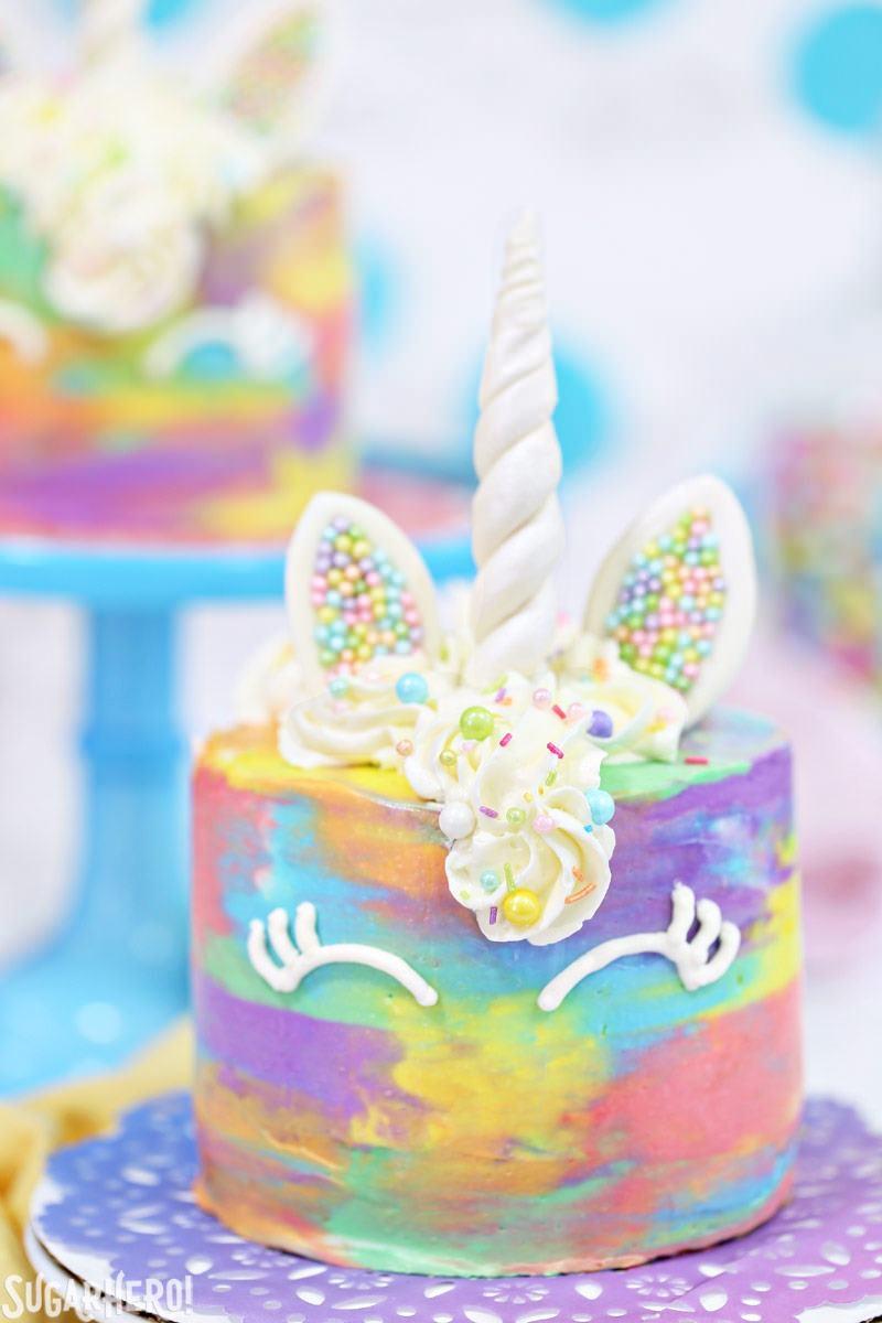 White Rainbow Cake