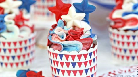 Enjoyable Red White And Blue Cupcakes Sugarhero Funny Birthday Cards Online Alyptdamsfinfo