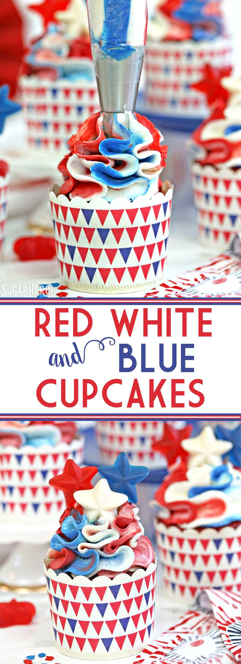 Red White And Blue Cupcakes Sugarhero