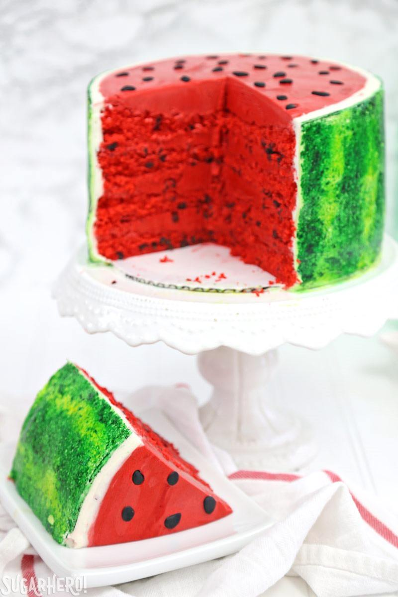 Watermelon layer cake sugarhero for Decoration layer cake