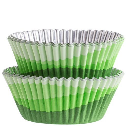 Green Ombre Color Cups | From SugarHero.com
