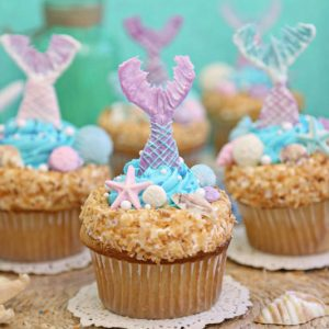 Mermaid Cupcakes | From SugarHero.com