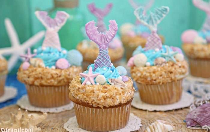 Mermaid Cupcakes | From SugarHero.com