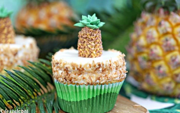 Pineapple Cupcakes | From SugarHero.com