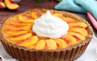 Fresh Peach Tart | From SugarHero.com