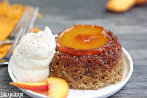 Peach Upside-Down Cakes | From SugarHero.com