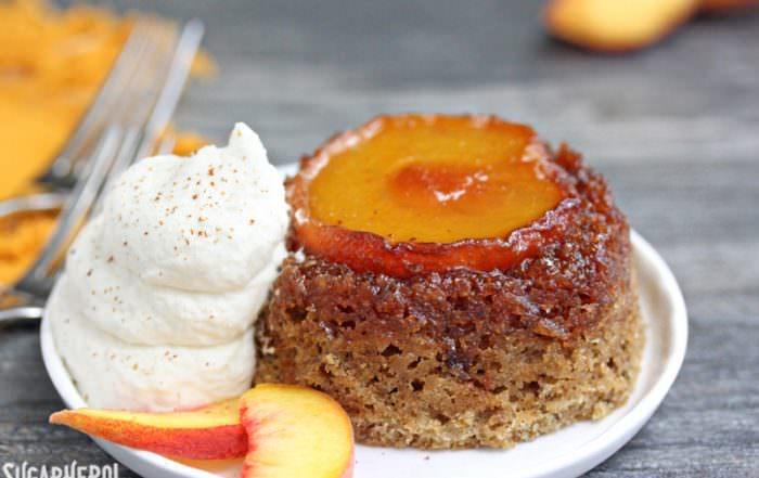 Peach Upside-Down Cakes | From SugarHero.com