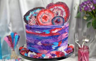 Agate Cake | From SugarHero.com