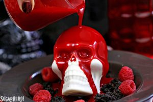 Melting Chocolate Skulls | From SugarHero.com