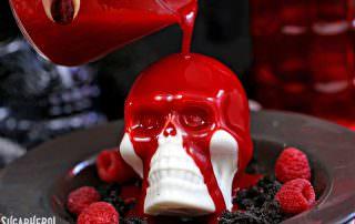 Melting Chocolate Skulls | From SugarHero.com