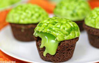 Zombie Brain Brownie Bites | From SugarHero.com