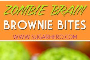 Zombie Brain Brownie Bites   From SugarHero.com