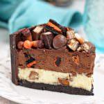 Candy Bar Cheesecake | From SugarHero.com