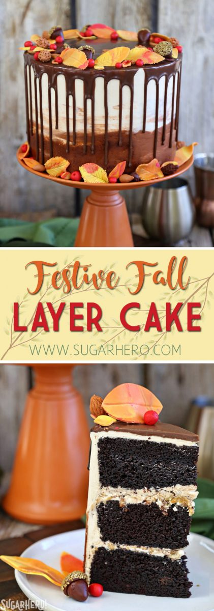 Festive Fall Layer Cake   From SugarHero.com