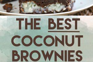 The BEST Coconut Brownies   From SugarHero.com