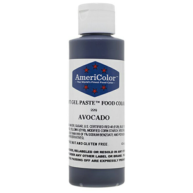 Avocado Gel Food Coloring | From SugarHero.com