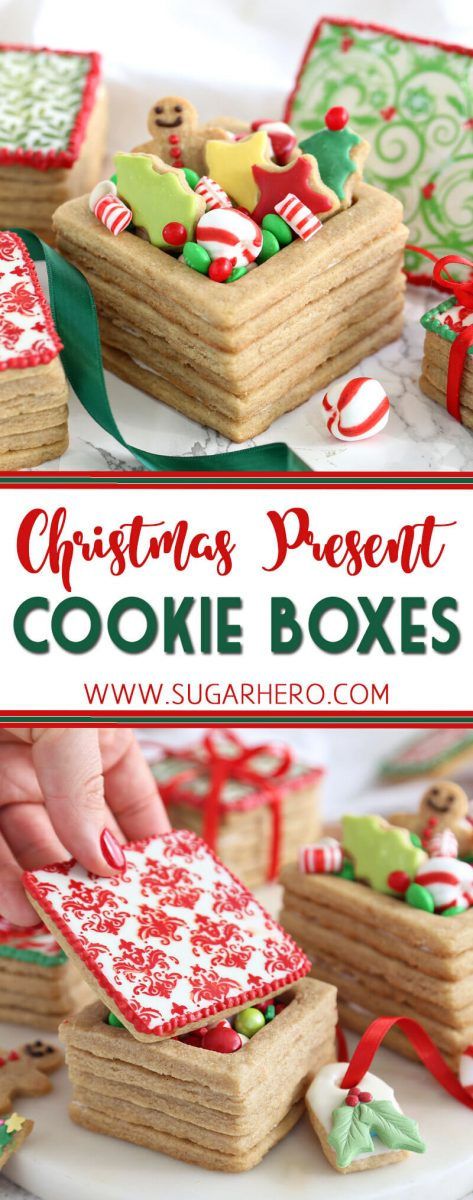 Christmas Present Cookie Boxes   From SugarHero.com