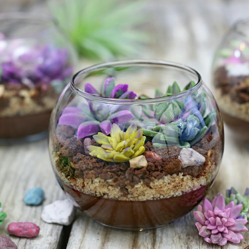 Edible terrariums with chocolate pudding sugarhero izmirmasajfo