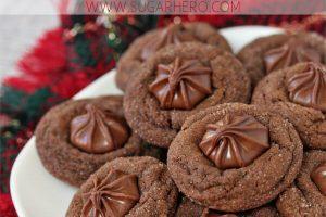 Soft Chocolate Gingerbread Cookies | From SugarHero.com