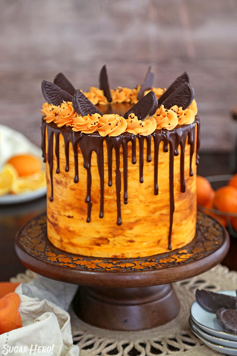 Chocolate Cake With Orange Buttercream Icing