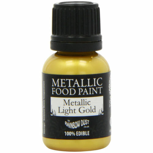Edible Gold Paint | From SugarHero.com