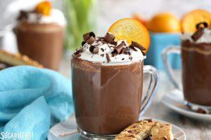 Orange Hot Chocolate | From SugarHero.com