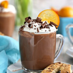 Orange Hot Chocolate | From SugarHero.com
