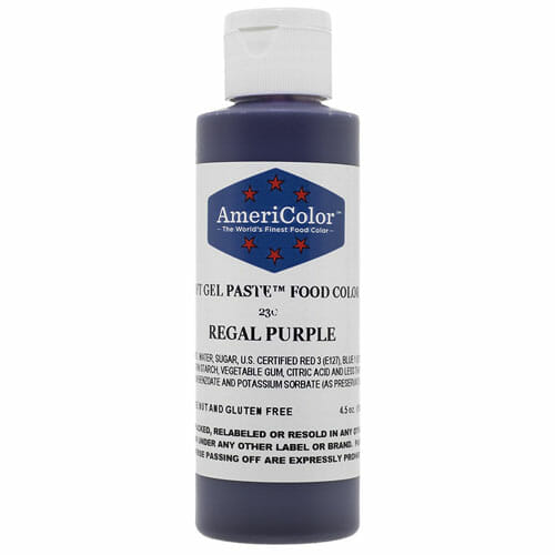 Purple Gel Food Coloring | From SugarHero.com