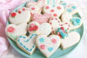Valentine's Day Sugar Cookies | From SugarHero.com