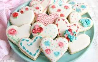 Valentine's Day Sugar Cookies | From SugarHero.com