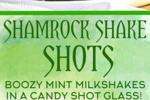 Shamrock Shake Shots | From SugarHero.com
