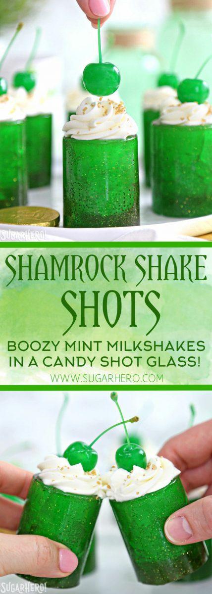 Shamrock Shake Shots | From SugarHero.com