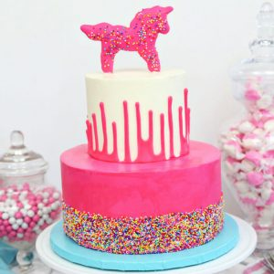 Circus Animal Layer Cake | From SugarHero.com