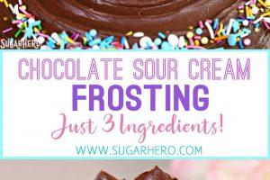Chocolate Sour Cream Frosting | From SugarHero.com