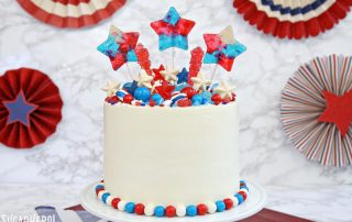 Fourth of July Layer Cake | From SugarHero.com
