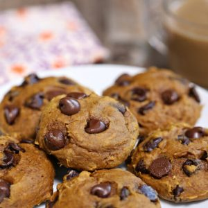 3-Ingredient Pumpkin Chocolate Chip Cookies | From SugarHero.com
