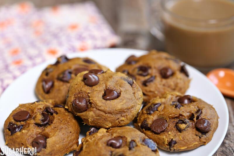 3 ingredient pumpkin chocolate chip cookies sugarhero
