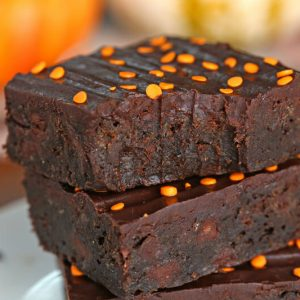 2-Ingredient Pumpkin Brownies | From SugarHero.com