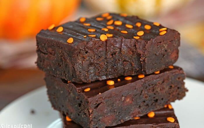 2-Ingredient Pumpkin Brownies | From SugarHero.com