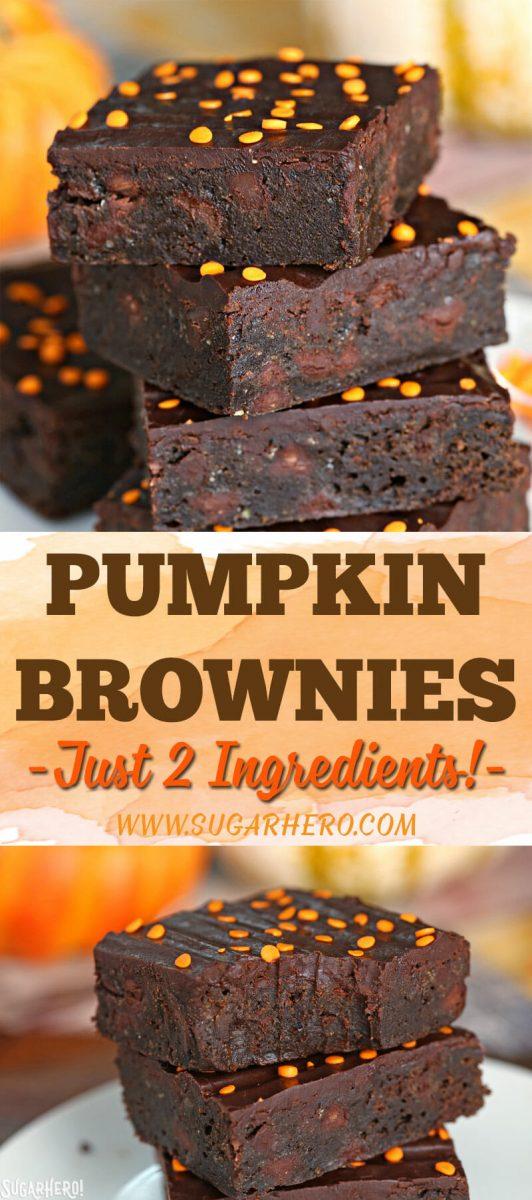 2-Ingredient Pumpkin Brownies   From SugarHero.com
