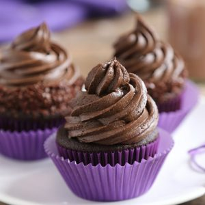 Chocolate Cupcakes with Triple Chocolate Frosting | From SugarHero.com