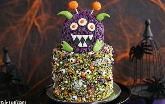 Monster Cake | From SugarHero.com