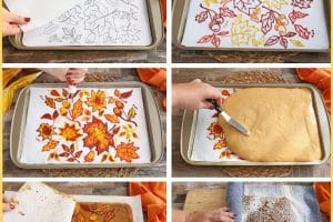 Pumpkin Roll photo collage with text overlay for Pinterest
