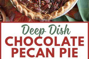 Deep Dish Chocolate Pecan Pie   From SugarHero.com