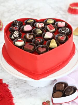Box of Chocolates Cake | From SugarHero.com