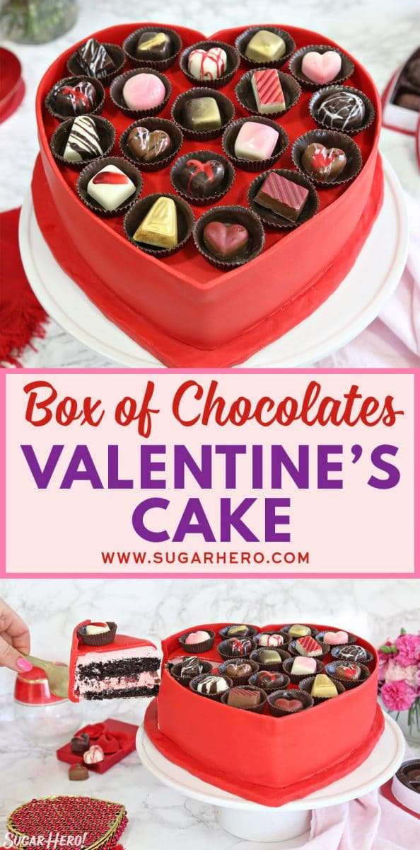 Box of Chocolates Cake | From SugarHero.com