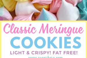 Meringue Cookie collage