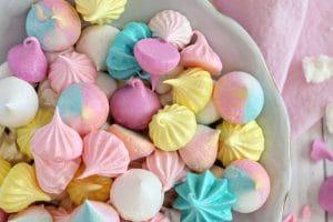 Meringue cookies collage