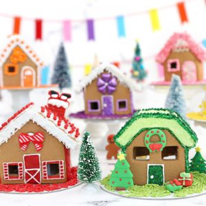 Rainbow Gingerbread House Village